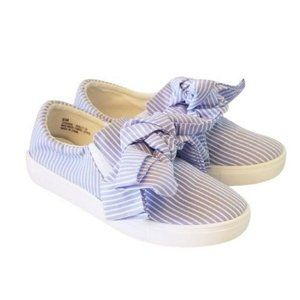 Cape Robbin Dolly Sneakers Flats Slip-Ons 9 Bow